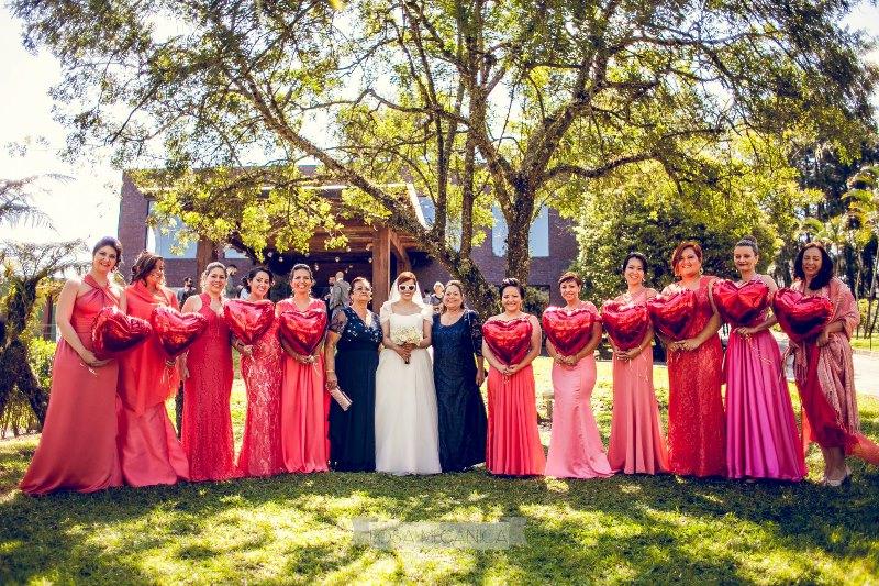 Casamento no campo madrinhas