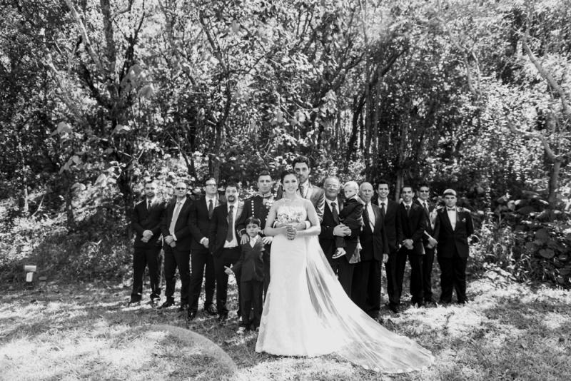 Noiva e padrinhos