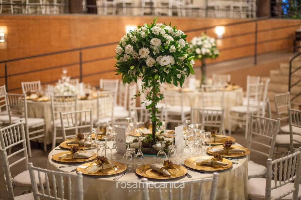 arranjo de mesa casamento Sabina