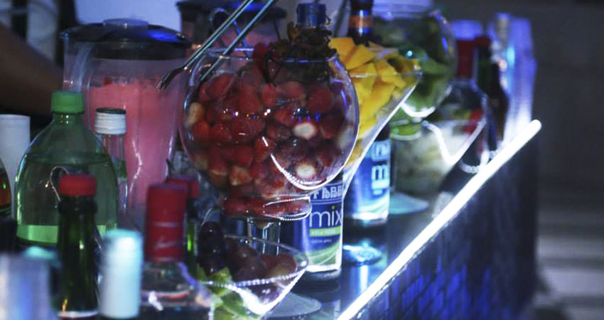 Bebidas para festa de casamento