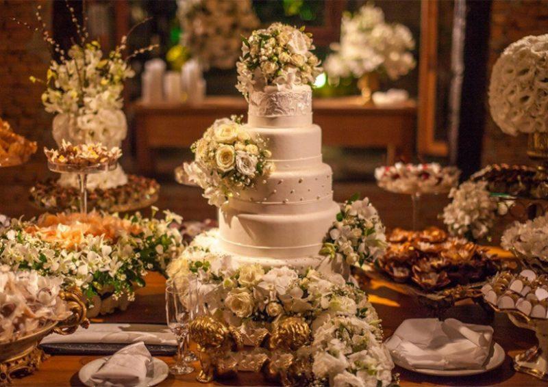 tipos de bolo de casamento